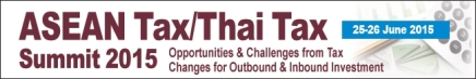 ASEAN Tax/Thai Tax Summit 2015